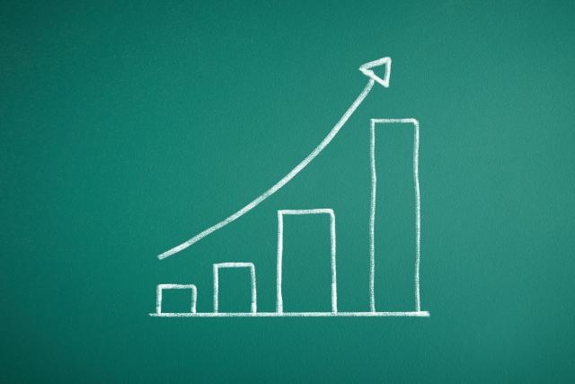 上昇傾向のグラフ